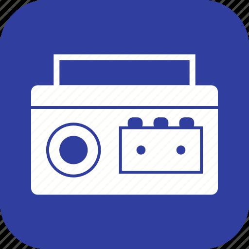 audio tape, cassette player icon