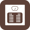 weighing, weight machine, weight scale icon