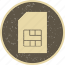 card, chip, gsm, sim, sim card icon