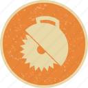 circular saw, cutter, saw, wood cutter icon