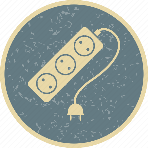 cable, electric cable, extension icon