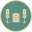 music system, speaker icon
