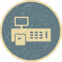 billing, cash, invoice, machine icon