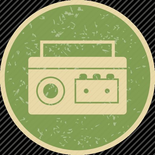 cassette, cassette player, music icon