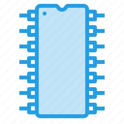 chip, circuit, computer, electronic, integrated, solicon icon