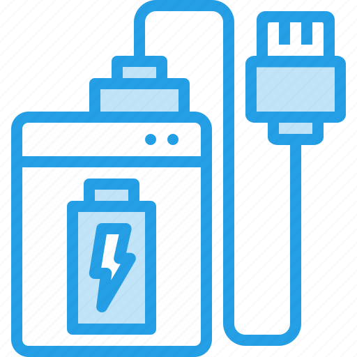 bank, battery, charger, electric, power, powerbank, wireless icon