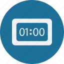 clock, configuration, device, electronic, elements, equipment, multimedia, tecnology icon
