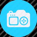 camera, configuration, device, electronic, elements, equipment, multimedia, photo, tecnology icon