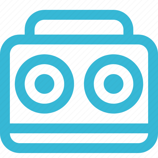 audio, boombox, music, sound, speaker, volume icon