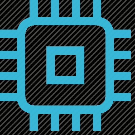 chip, computer, cpu, hardware, microchip, processor icon