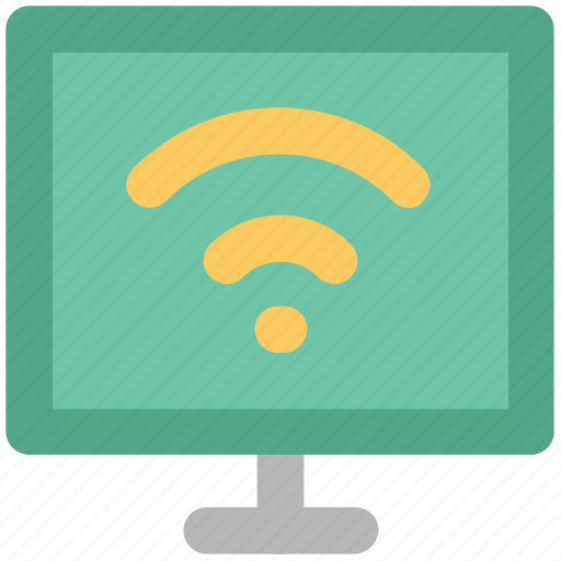 internet connection, monitor, screen, wifi connection, wifi connectivity icon