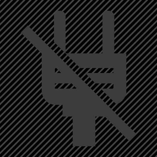 electrical, no power, plug icon
