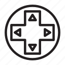 arrow, button, control, press, switch icon