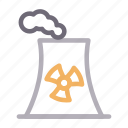 chimney, industry, nuclear, plant, smoke icon