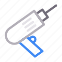 construction, drill, electric, machine, tools icon