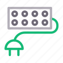 adapter, electric, extension, socket, switch icon