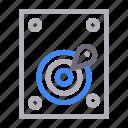 electronics, harddisk, memory, storage, technology icon