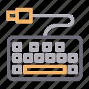 computer, hardware, keyboard, typing, usb icon