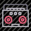 audio, electronics, music, radio, tape icon