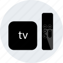 apple, controller, device, electronic, gadget, tech, tv icon