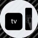 apple, controller, device, electronic, gadget, tech, tv icon
