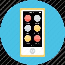 electronic, gadget, ipod, music, nano, small, tech icon
