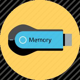 data, electronic, gadget, guardar, memory, save, stick, tech icon