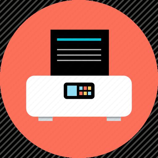 device, electronic, gadget, print, printer, tech, wireless icon