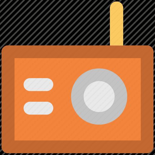 antenna, broadcasting, fm, radio, radio set, tuner, wireless icon