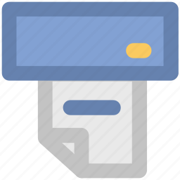 atm receipt, banking, finance, online banking, transaction, transaction receipt, withdrawal icon