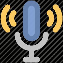 audio, microphone, music, recording, sound, speak, speech icon