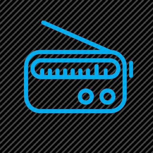 audio, device, hear, hearing, listen, media, redio icon