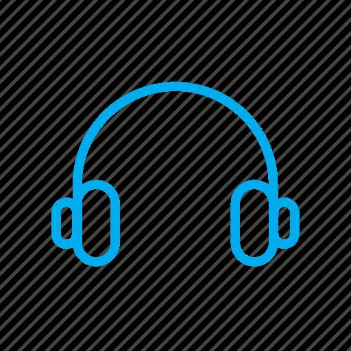 headphone, headphones, hear, hearing, listen, listening, sound icon