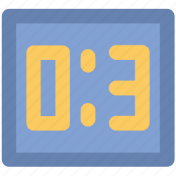 clock, digital alarm, digital clock, timepiece, timer icon