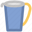 beaker, blender jug, jug, measuring jug, pitcher, water jug icon