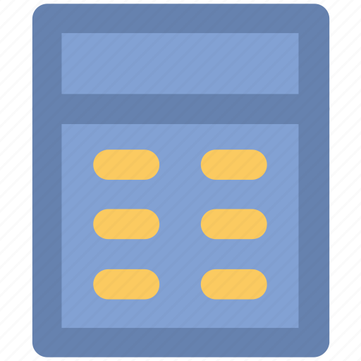 accounting, calculating device, calculator, digital calculator, mathematics, office supplies icon
