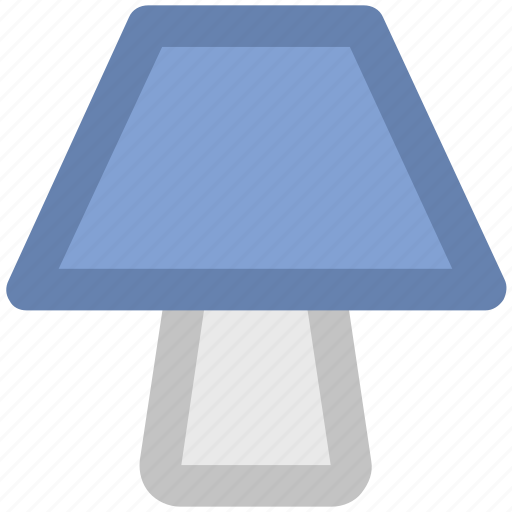 bedside lamp, electric lamp, interior lamp, lamp, lamp light, light, table lamp icon