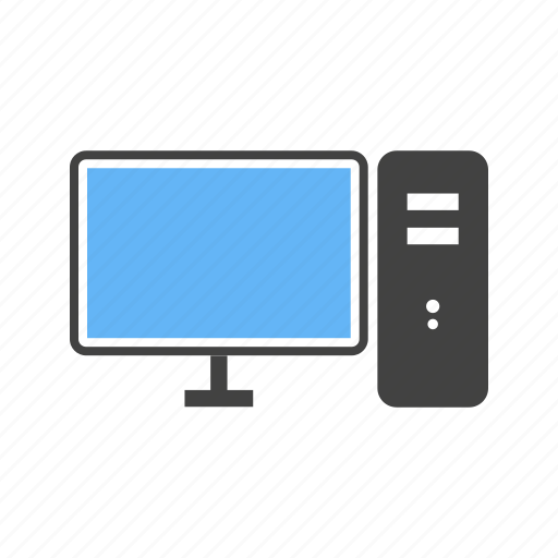 computer, cpu, monitor, pc icon