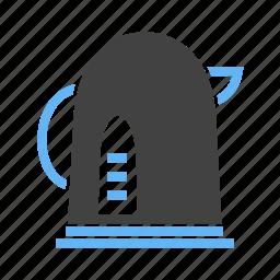 kettle, pot, tea, warm, water icon