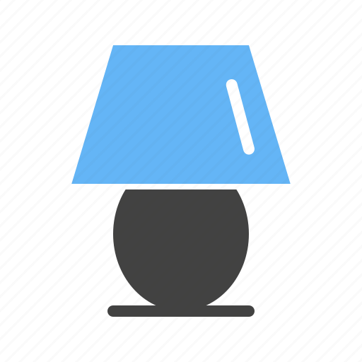 decoration, lamp, light, side, table icon