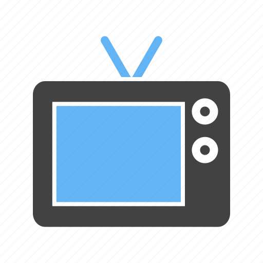 antenna, buttons, chanels, television, tv icon