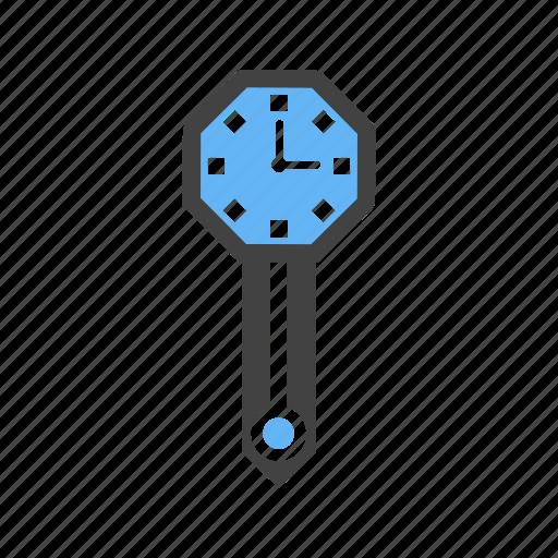 clock, decoration, hanging, wall icon