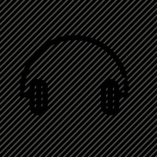 electronics, head set, headphones, music icon