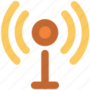 communication tower, network, signal tower, wifi antenna, wifi tower, wireless antenna, wireless technology icon