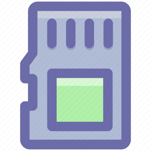 Card, data storage, memory card, memory storage, sd card, storage device icon - Download on Iconfinder