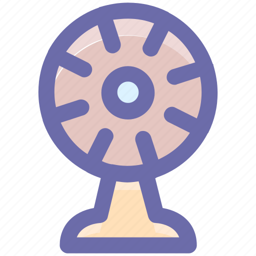 cooler, electrical, electronic fan, energy, fan, ventilator wind icon