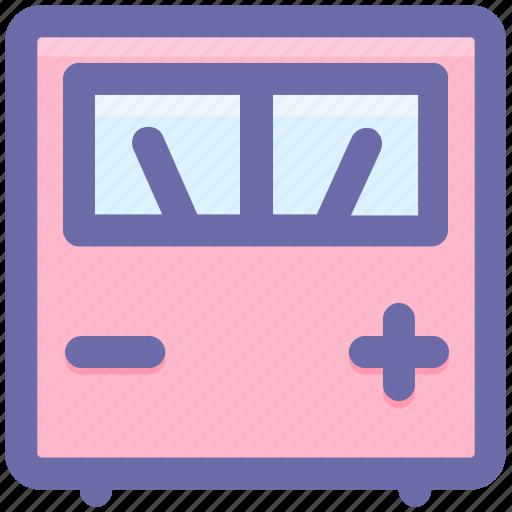 electronics, meter, performance, scale, speedometer, voltage, voltmeter icon