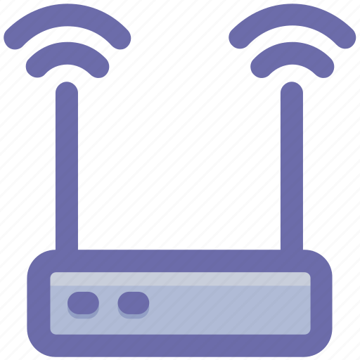 Network, wireless, connection, internet, device, router, technology icon