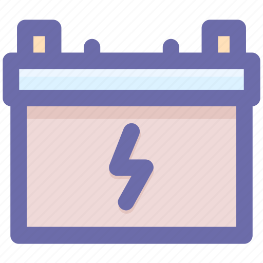 battery, car battery, charge, electric power, electricity, energy icon
