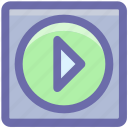 media, media player, multimedia, play, play button, play media, play sign, player icon